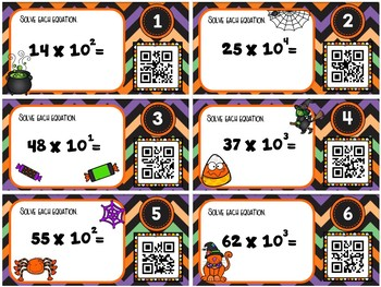 Halloween Powers of 10 Activity with QR Codes