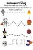 Halloween Pre-K Worksheets