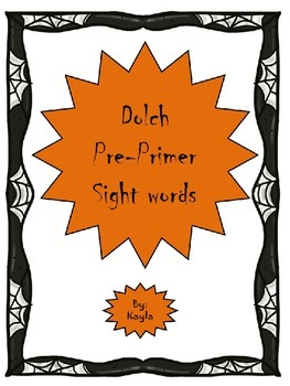 Halloween Pre-Primer Dolch words