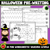 Halloween Pre-Writing Tracing Worksheets