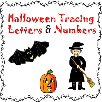Halloween Pre-k Vocab, Beginning Letters & Number Tracing & Matching Pictures
