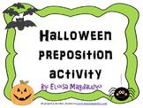Halloween Preposition Activity