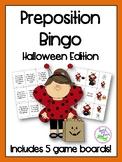 Halloween Preposition Bingo