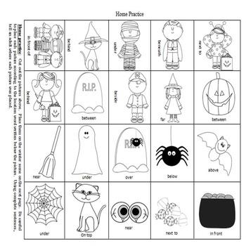 Halloween Preposition Play!  An Expressive Language Activity