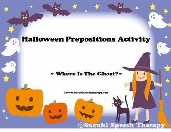 Halloween Prepositions Activity