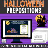 Halloween Prepositions Activity for Google Slides™ plus pr