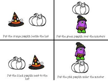 Halloween Prepositions FREEBIE