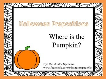 Halloween Prepositions Freebie