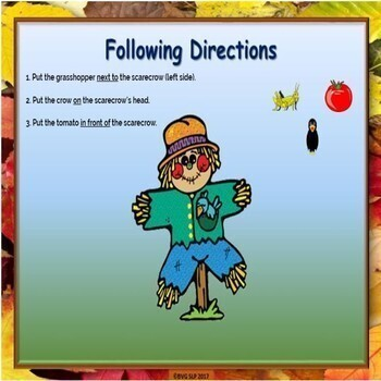 Halloween Prepositions and Following Directions BOOM CARDS - Teletherapy