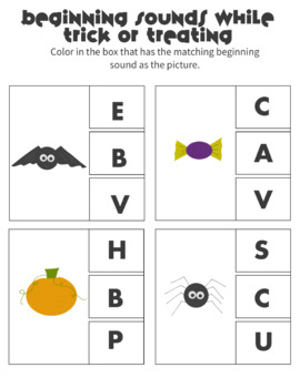 Halloween Preschool Activity Packet