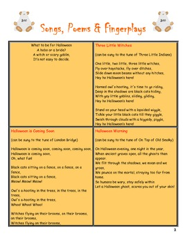 Halloween Preschool Curriculum