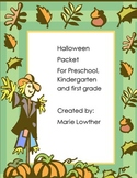 Halloween Preschool Kindergarten and first grade activity packet