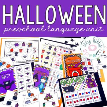 Halloween Preschool Language Unit