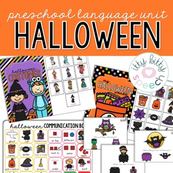 Halloween Preschool Language Unit