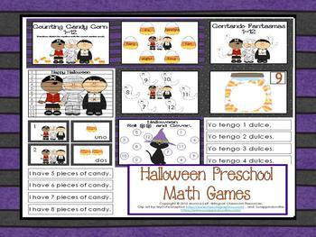 Halloween Preschool Math Games