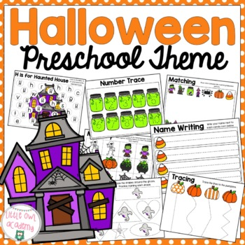 Halloween Preschool Packet