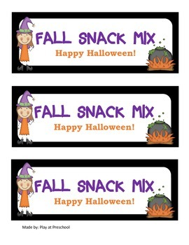 Halloween Preschool Printable Unit