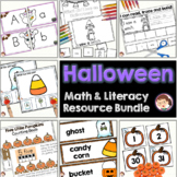 Halloween Activities Pre-K (PreK) Literacy and Math Centers Bundle