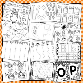 Halloween Preschool Theme Packet (HUGE!)