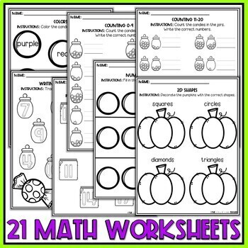 Halloween Preschool Worksheets October