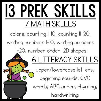 Halloween Preschool Worksheets October