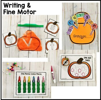 Halloween Preschool and PreK Math, Literacy, and Writing Pack