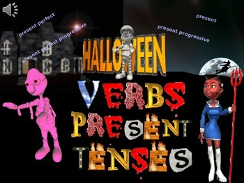 Halloween Present Tense Verbs With Spelling Rules