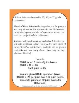 Halloween Price Per Treat Project
