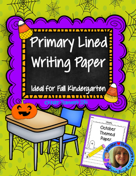 Halloween Primary Lined Writing Paper