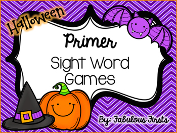 Halloween Primer Sight Word Games