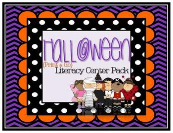 Halloween {Print & Go Optional} Literacy Center Pack