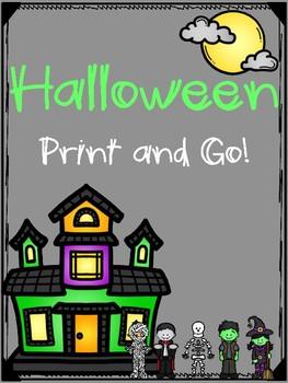Halloween Print and Go! for Preschool and Kindergarten