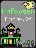 Halloween Print and Go! for Preschool and Kindergarten