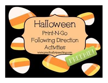 Halloween Print-n-Go Following Directions FREEBIE