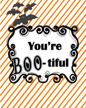 Halloween Printable Bulletin Board Idea Class Decor You're Boot-iful