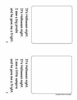 Halloween - Reading - No Prep - Printable Story - Worksheet - Evaluation