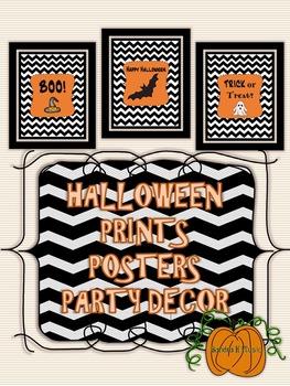 Classroom Decor: Halloween Printable Posters