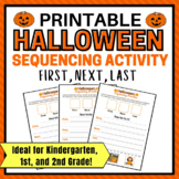 Halloween Printable Sequencing Activity for 1st Grade, Kindergarten and 2nd Gr