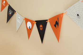 Halloween Printable for Pennant Banner Flags for School Decor