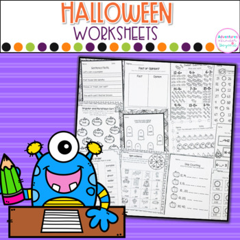 Halloween Printables- Math and Literacy On The Go