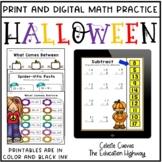 Halloween Math Practice Bundle | Print and Digital