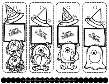Free Halloween Printable Bookmarks