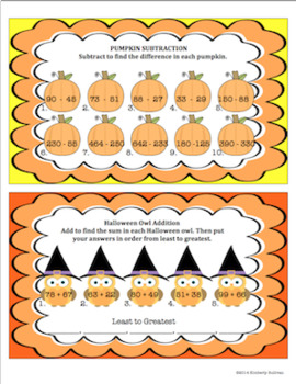 Halloween Math Printables and Task cards! Early Finishers! Secret Codes!