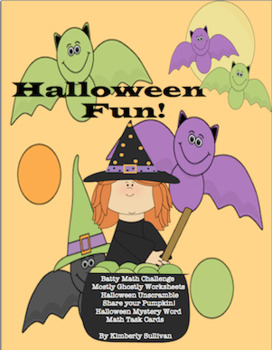 Halloween Math Printables Writing and Task cards! Early Finishers! Secret Codes!