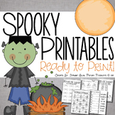 Halloween Printables for First Grade {Ready, Set, Print!}