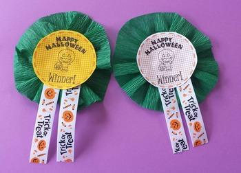 Halloween Prize or Reward Printable Button/Ribbon