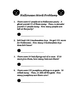Halloween Problem Solving