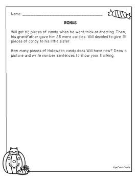 Halloween Problem Solving - 2nd Grade