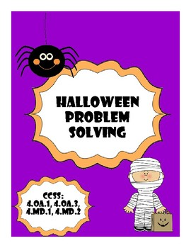 Fourth Grade Halloween Problem Solving