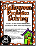 Halloween Problem Solving (3rd Grade TEKS 3.4A, 3.5A, 3.4C, 3.7B) STAAR Practice